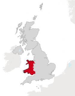 Wales kaart