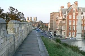 York Wandelroute: het einde met uitzicht over de stad