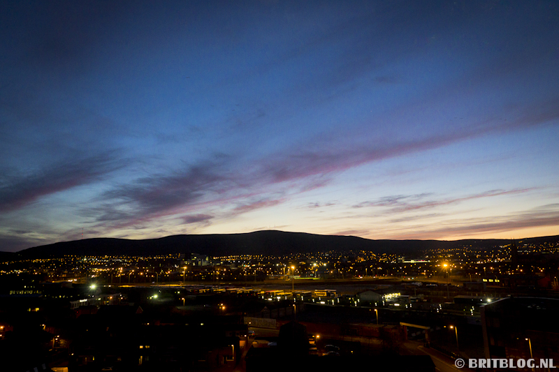 Belfast zonsondergang