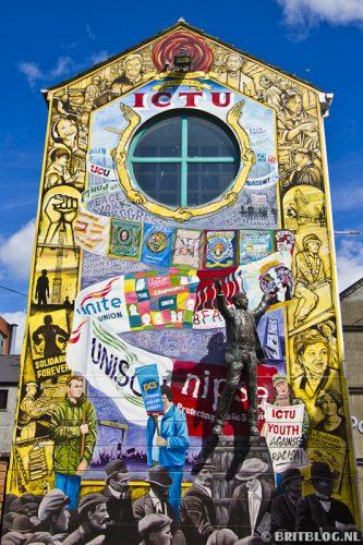 schildering Cathedral Quarter Belfast