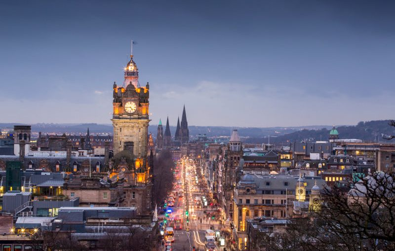 Balmoral Hotel clock tower, Edinburgh