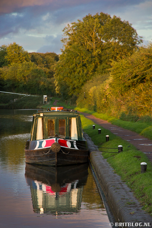 narrowboat in Engeland