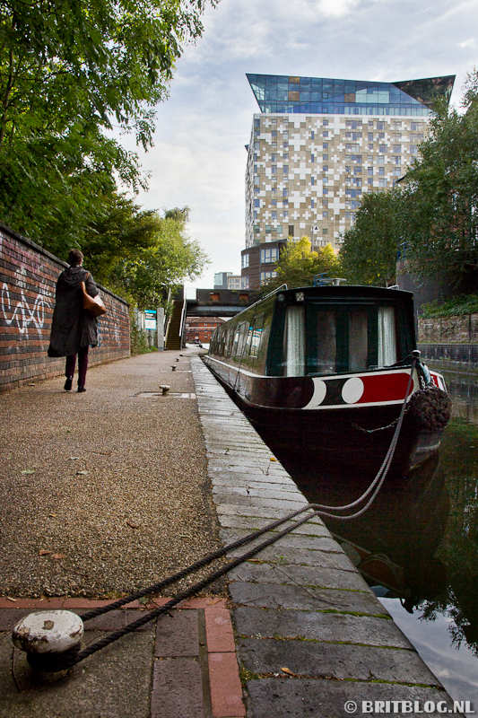 narrowboat in Birmingham