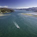 Barmouth Mawddach Estuary Snowdonia Aerial Mid Scenery
