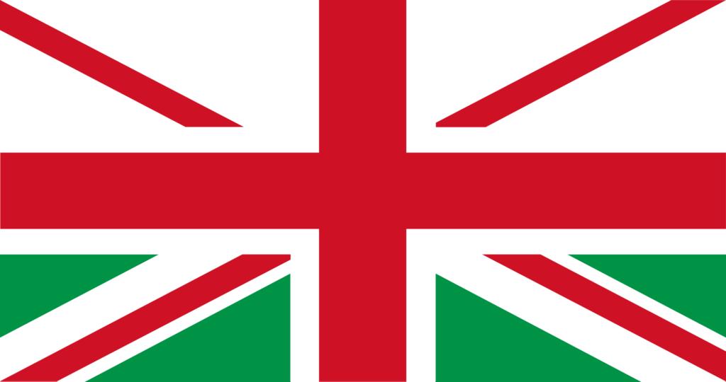Vlag als Schotland het VK verlaat