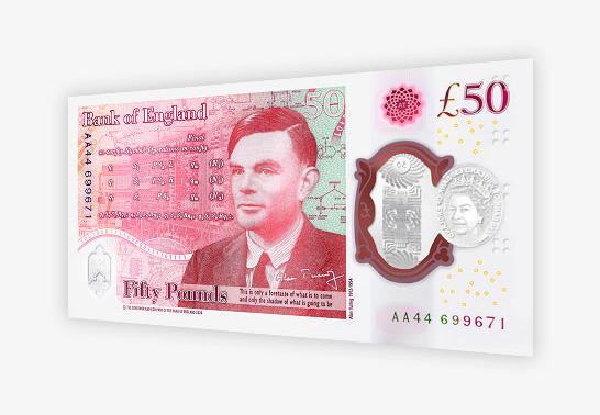 Nieuw briefje van 50 pond met Alan Turing