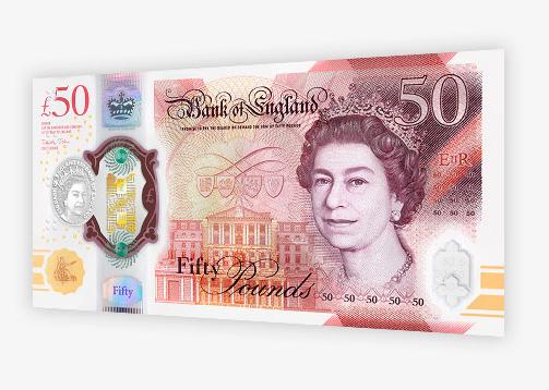 Nieuwe vijftig pond: Queen Elizabeth