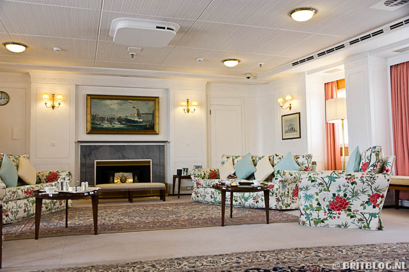 The Royal Yacht Britannia huiskamer