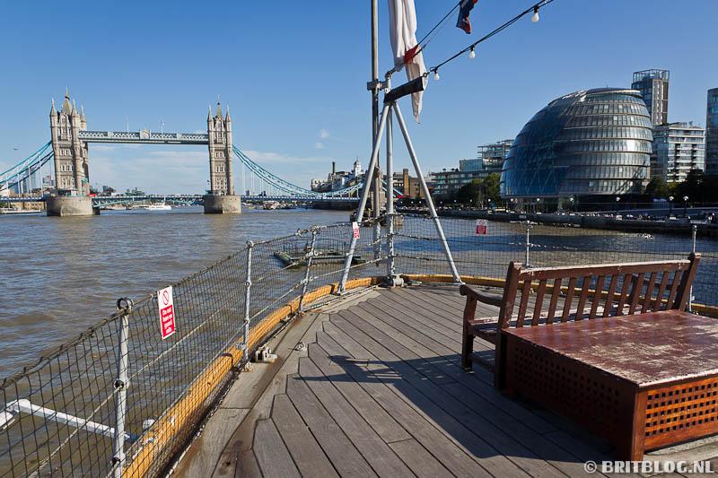 HMS Belfast uitzicht