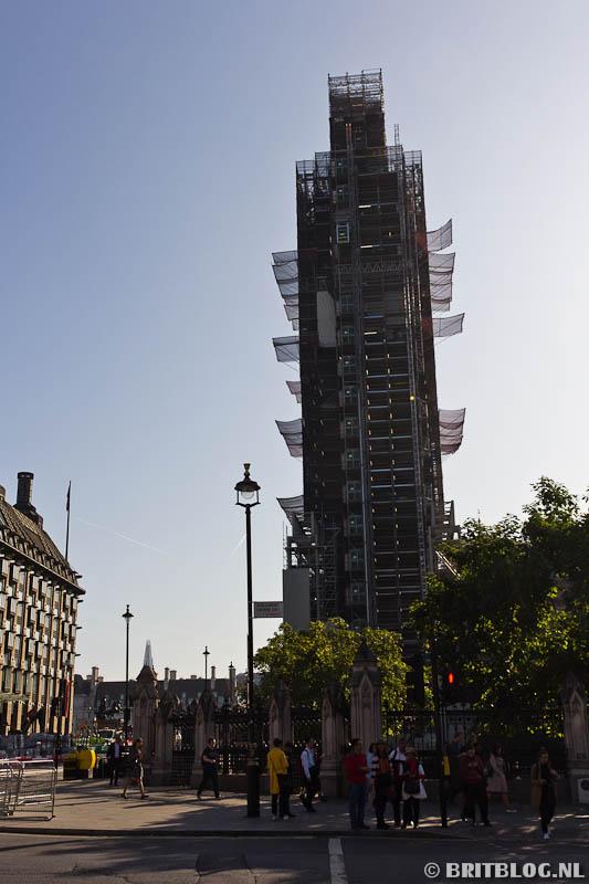 Elizabeth Tower, Big Ben in de steigers