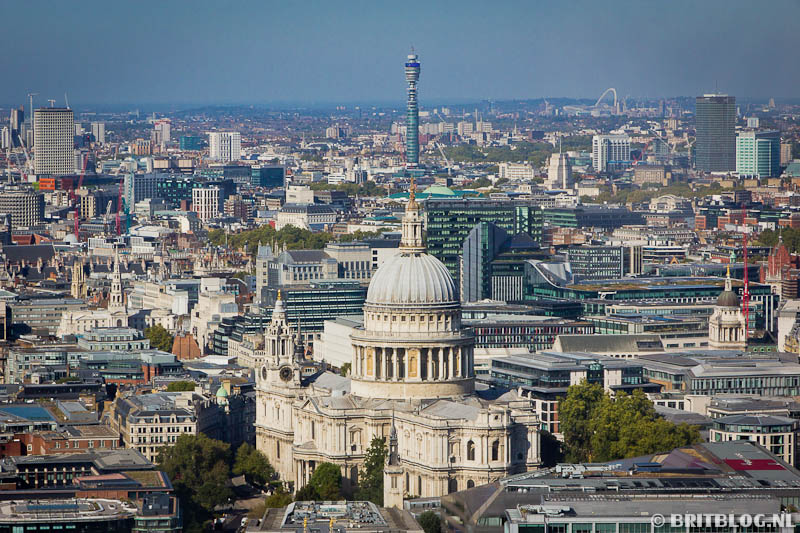 St Paul's Cathedral, vanuit Sky Garden