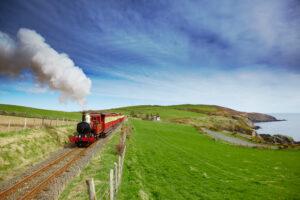 vervoer op Isle of Man kan met stoomtrein