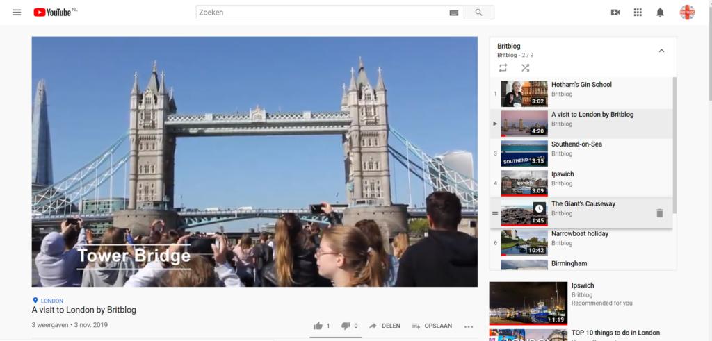 Britblog op YouTube
