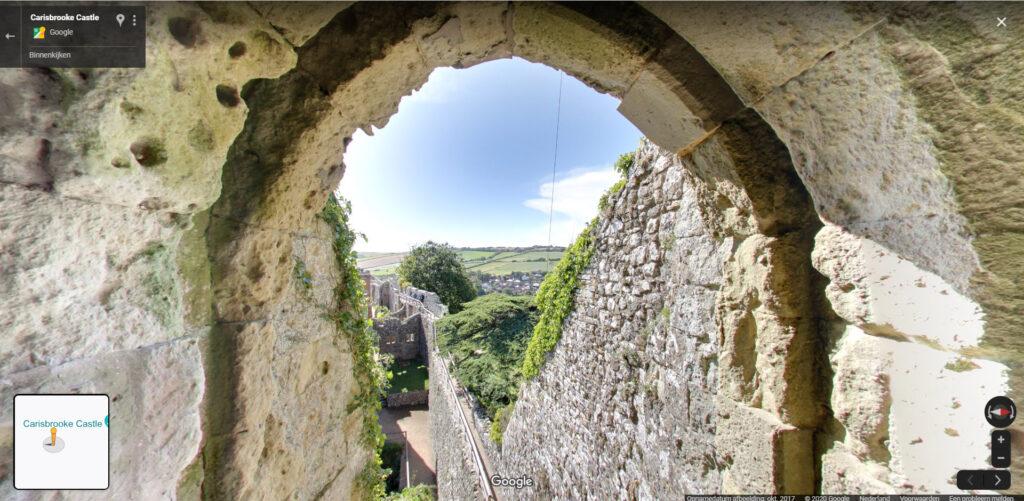Carisbrooke Castle, Google Maps - online sightseeing