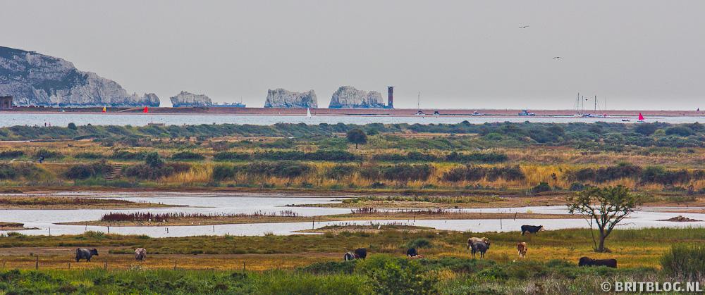 Het eiland Wight ten zuiden van Engeland