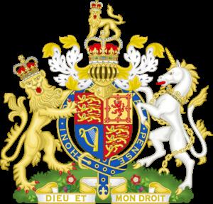 Het Wapen van het Verenigd Koninkrijk van Groot-Brittannië en Noord-Ierland