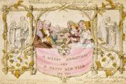 Eerste commerciële kerstkaart door John Callcott Horsley
