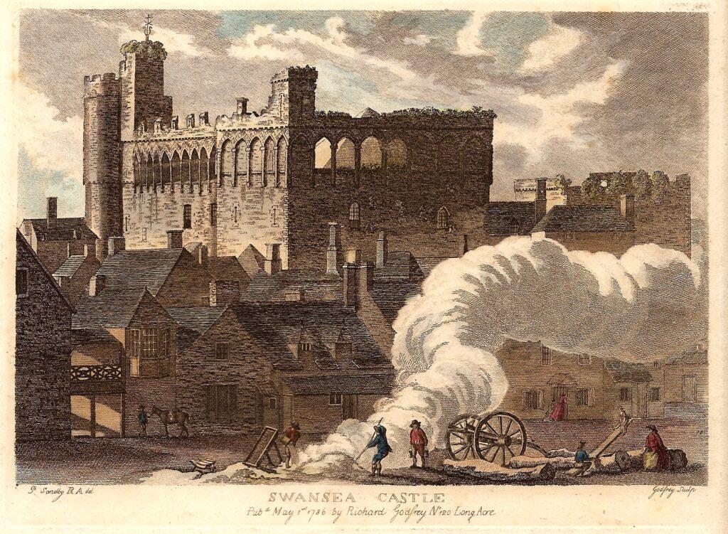 Swansea Castle, 1786