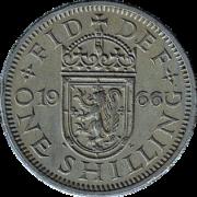 One Shilling, het oude Britse geld voor Decimal Day