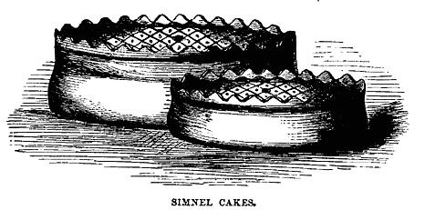 Simnel Cake wordt gegeten op de Britse Moederdag, Mothering Sunday