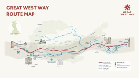 Great West Way route