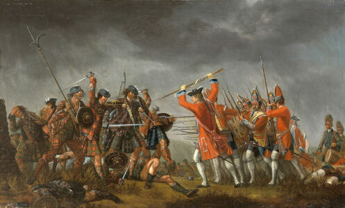 An incident in the rebellion of 1745, David Morier