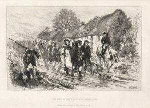 Jacobieten worden aangevallen door Redcoats