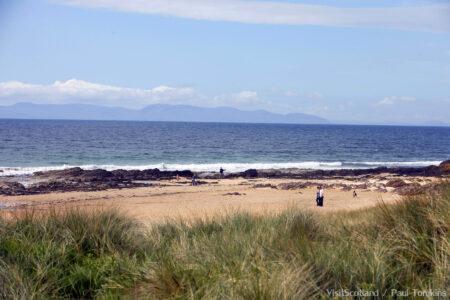 Westport Beach from Machrihanish Dunes, Kintyre, Argyll.