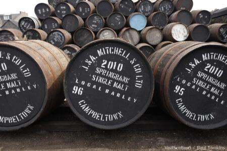 Springbank Distillery, Campbeltown, Kintyre, Argyll.