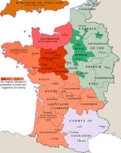 Het Frankrijk van 1151 onder Hendrik II