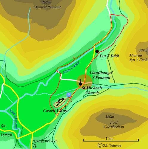 wandelroute Castell Y Bere en de Dysynni vallei